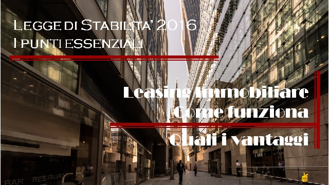 Leasing Immobiliare residenziale