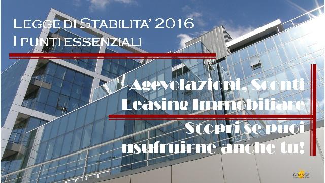 Legge di Stabilità 2016 – Governo Renzi